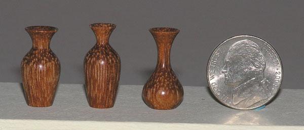 Cocobolo Jatoba Rosewood Exotic Tropical Wood Miniature Vase